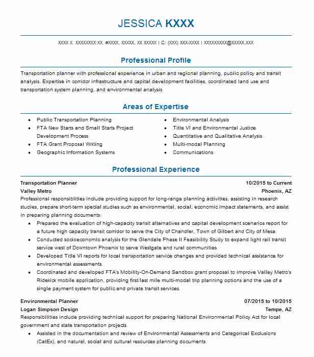 1204 Urban And Regional Planning Resume Examples Architecture