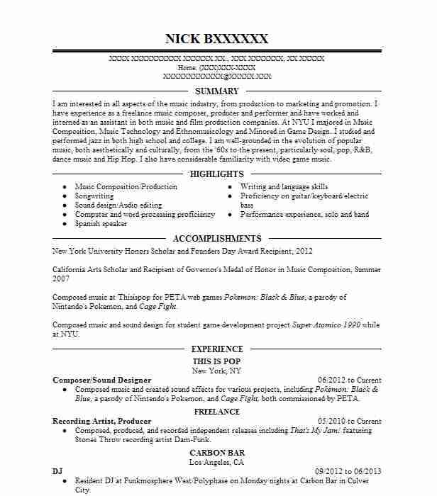 music producer and dj resume example dj red