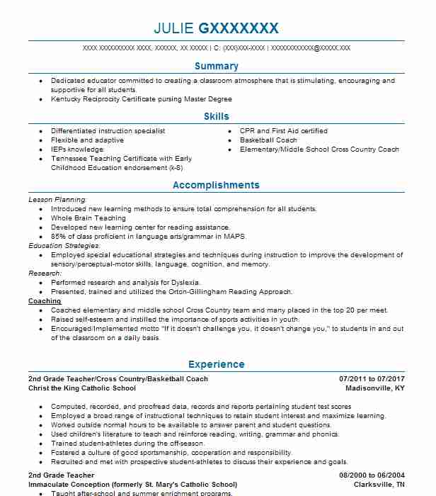 find resume examples in hanson  ky