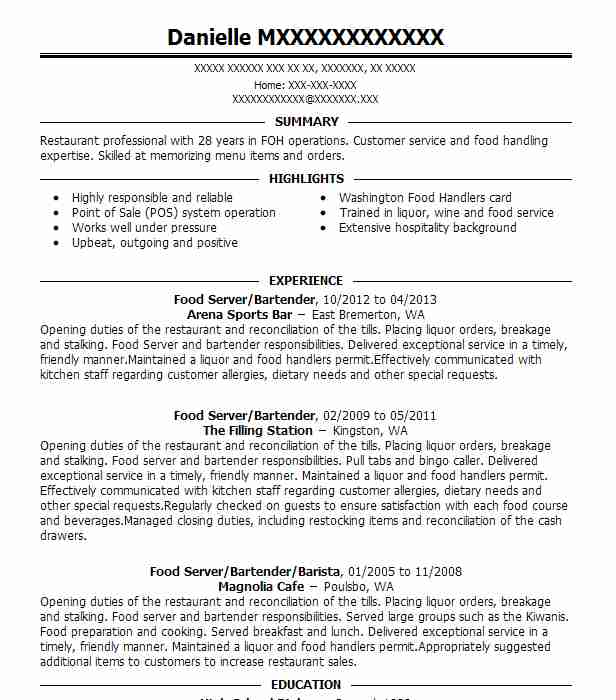 Cashier, Smoothie Station, Food Station, And Food Resume