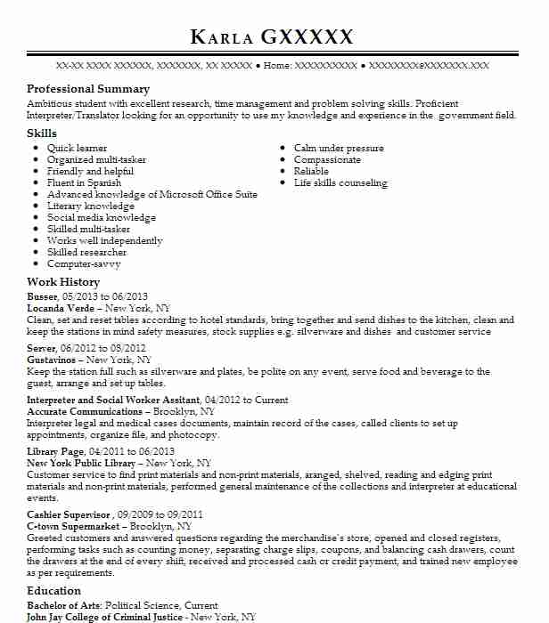 8 Political Science Resume Examples Government Resumes Livecareer