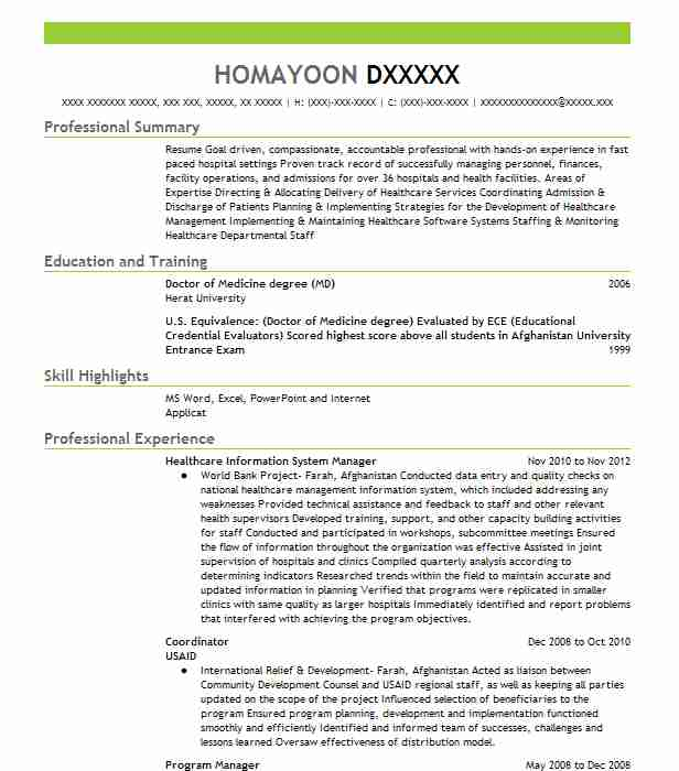 healthcare compliance manager resume example target