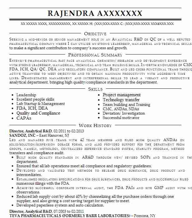 manager analytical r u0026d resume example akorn