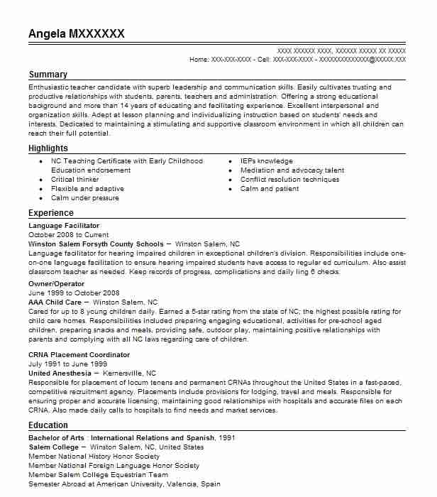 Language Analyst Resume Example Nsa Kapolei Hawaii