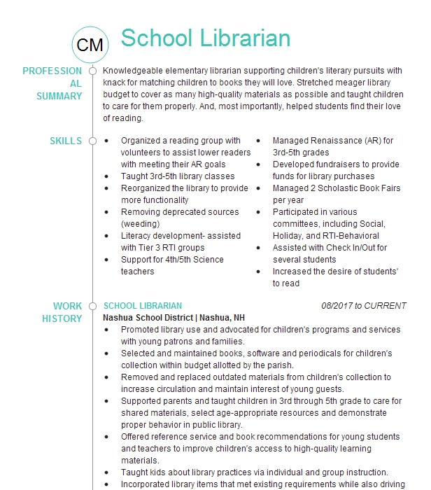 School library resume objective dissertation concurrence et prix