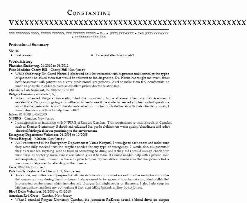 shadowing physician assistant resume example scripps