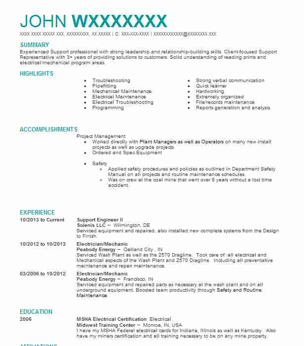 Fine Peabody Energy Resume Embellishment - Best Resume Examples by ...