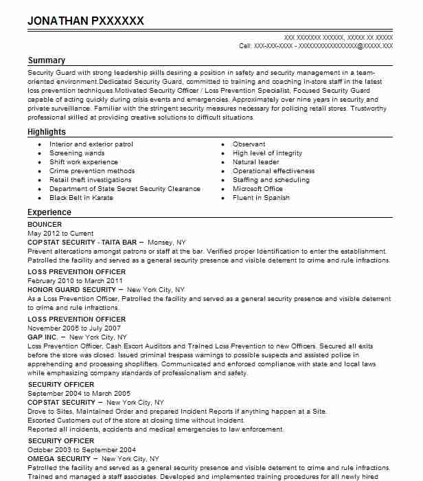Resume examples for bouncer professional letter writing services usa