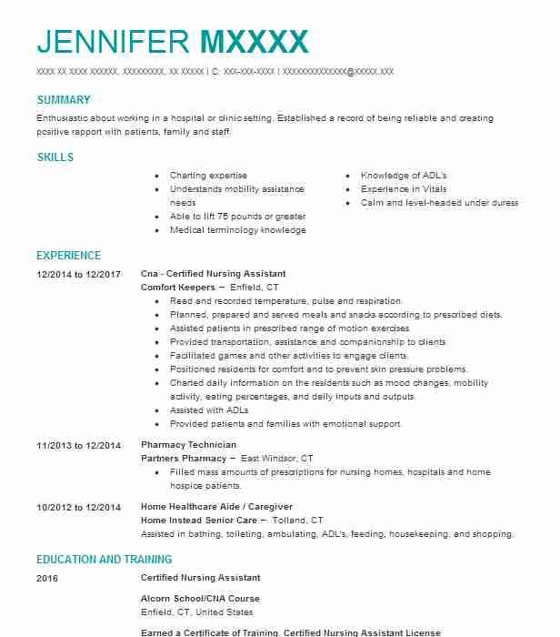 Create My Resume  Dietary Aide Resume