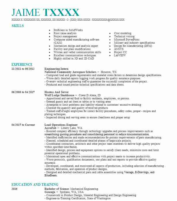Unique Idaho Engineering Resume Frieze - Best Resume Examples by ...
