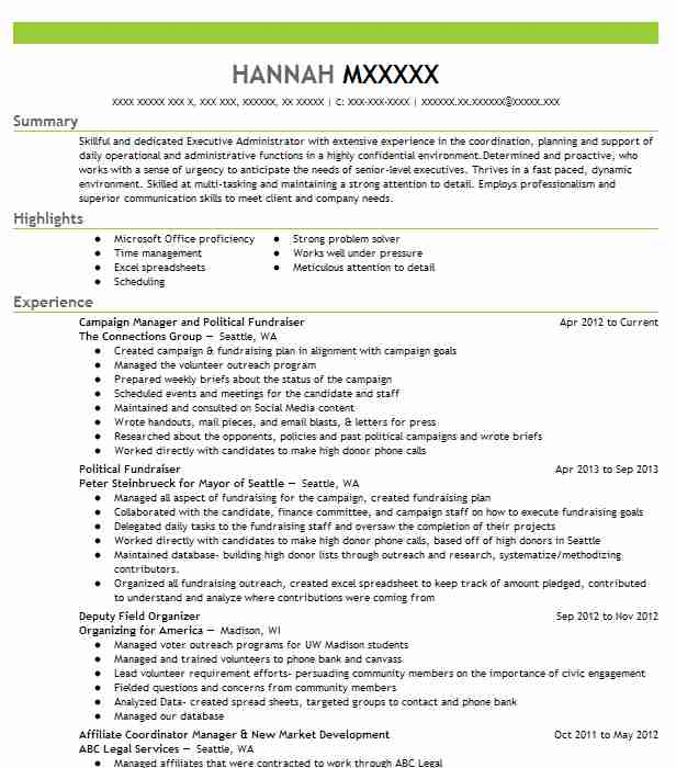 Political campaign resume example cover letter for submission of documents