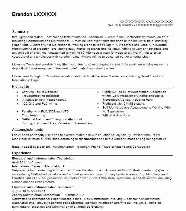 power plant instrumentation and electrical technician