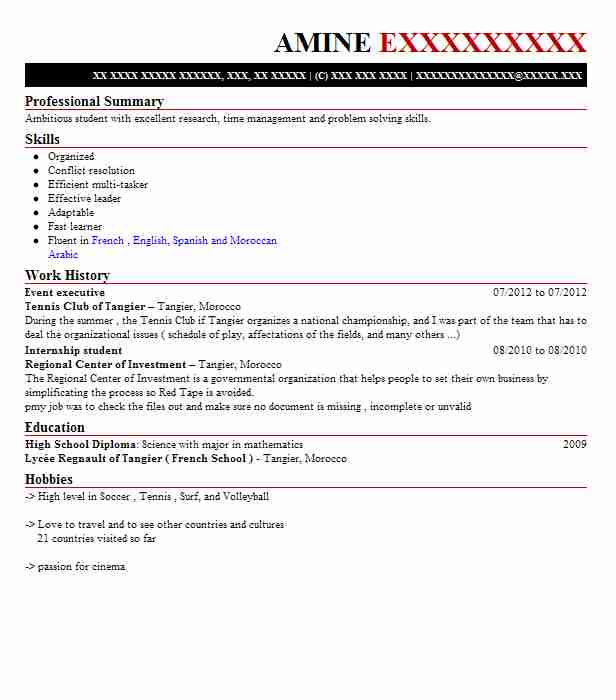 Event Executive Resume Sample | Executive Resumes | LiveCareer