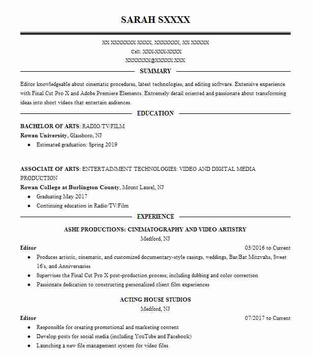 editor resume sample editor resumes livecareer