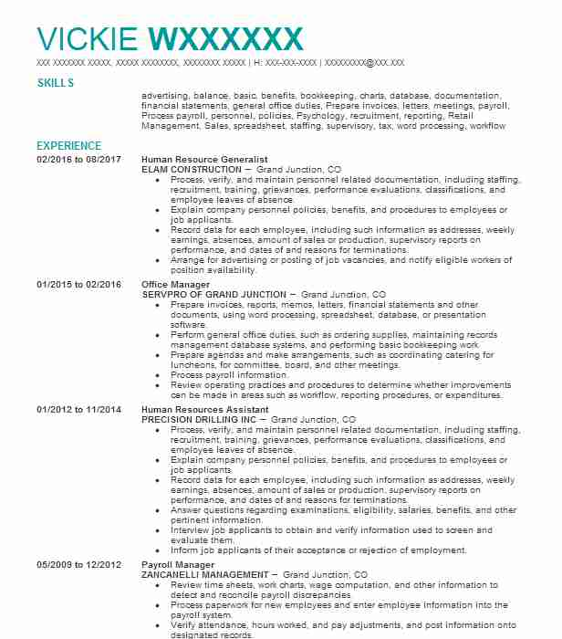1667 Office Management Resume Examples in Colorado | LiveCareer