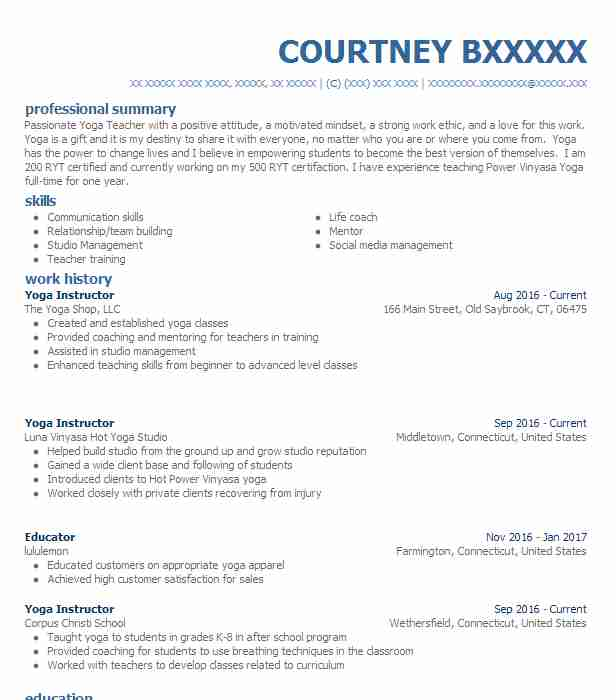 find resume examples in essex  ct