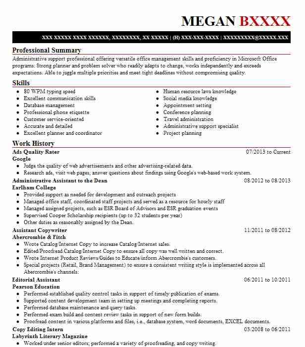 ads quality rater resume example zerochaos