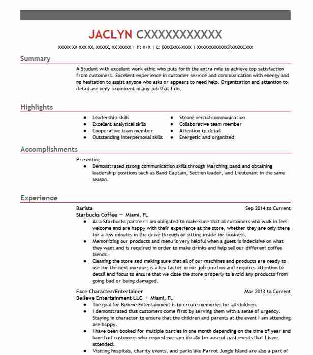 team member resume example tacobell los angeles california