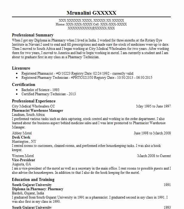 pharmacist manager resume example alive pharmacy sdn bhd