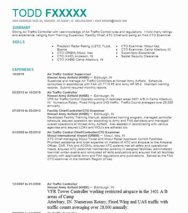air traffic controller resume sample - Tire.driveeasy.co