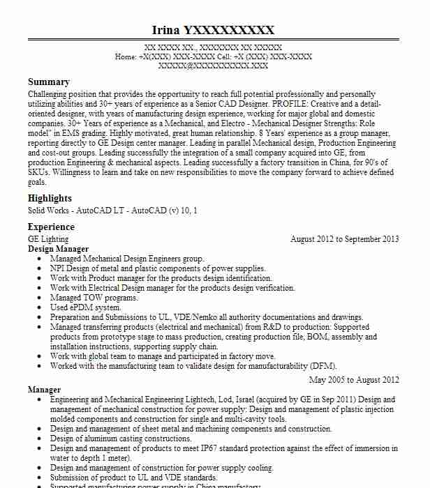 Design Manager Resume Example Stonemill Log & Timber Homes