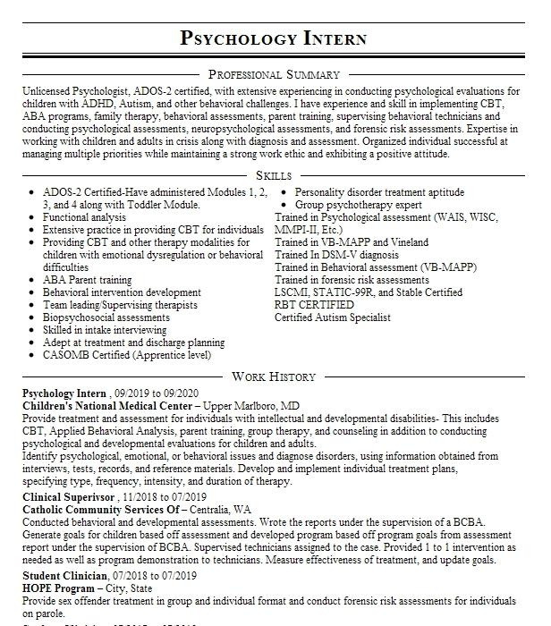 practicum student resume example sigma counseling services