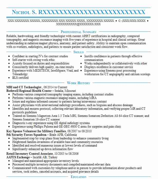 find resume examples in whiteman air force base  mo