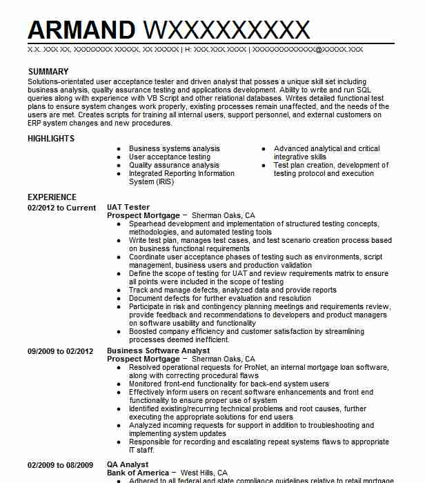 Agile Qa Tester Resume Sample: Uat Tester Resume Sample