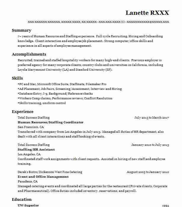 fine dining server resume sample resumes misc livecareer