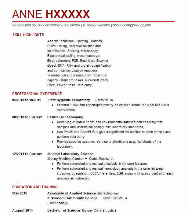 Iowa core manual table array 605 medical and lab technicians resume examples in iowa livecareer rh livecareer com fandeluxe Image collections