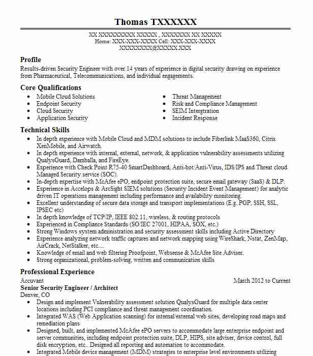 Computer Security Resume Examples  Computers And Technology