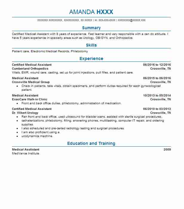 back office medical assistant resume example good