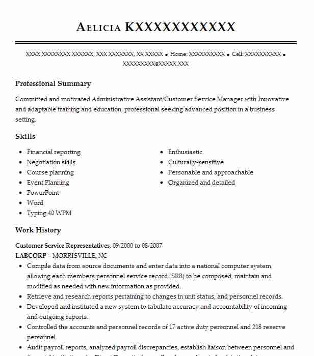 best customer service representatives resume example livecareer