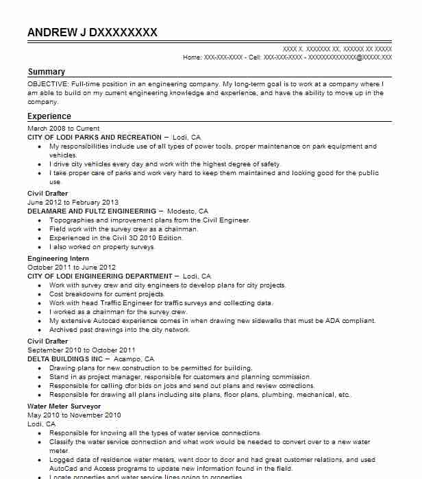 Wireless Engineer Sample Resume: Civil Drafter Resume Sample