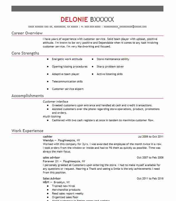LiveCareer  Beauty Advisor Resume