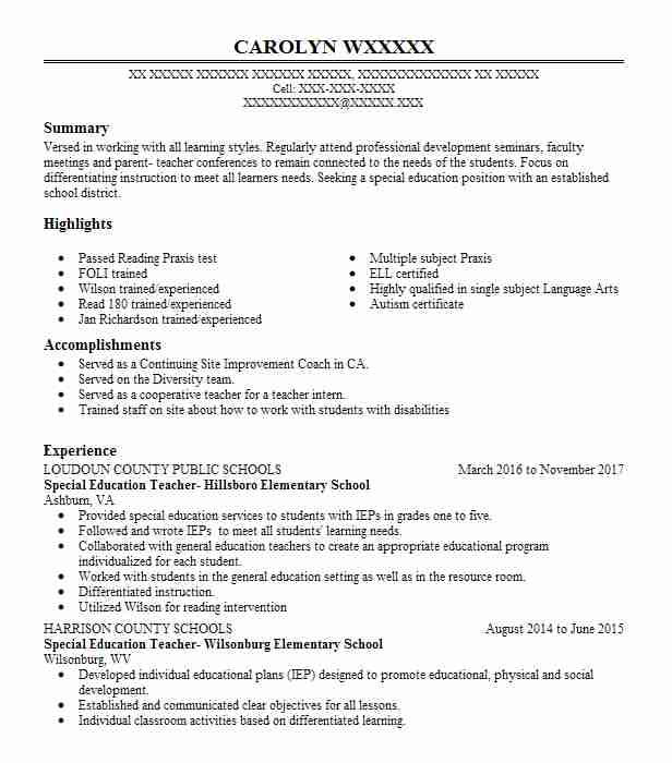 Top Special Education Resume