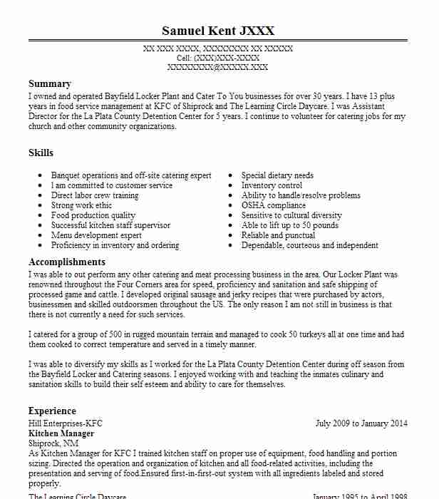 70 Food Processing Resume Examples in New Mexico | LiveCareer