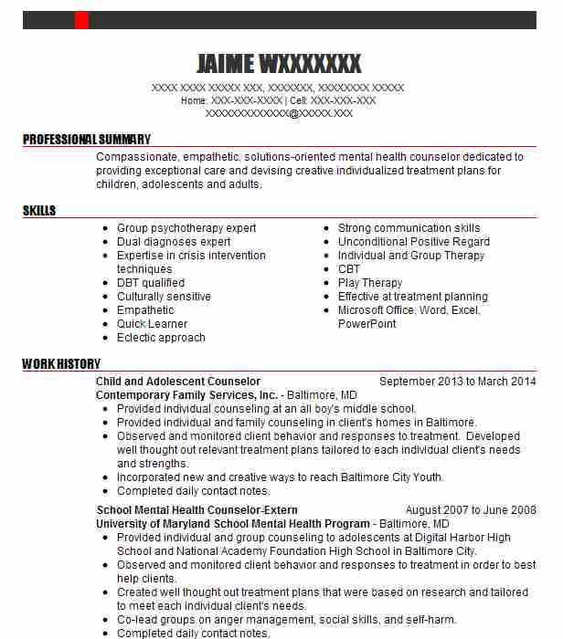Child/Adolescent Mental Health Case Manager, QMHP Resume