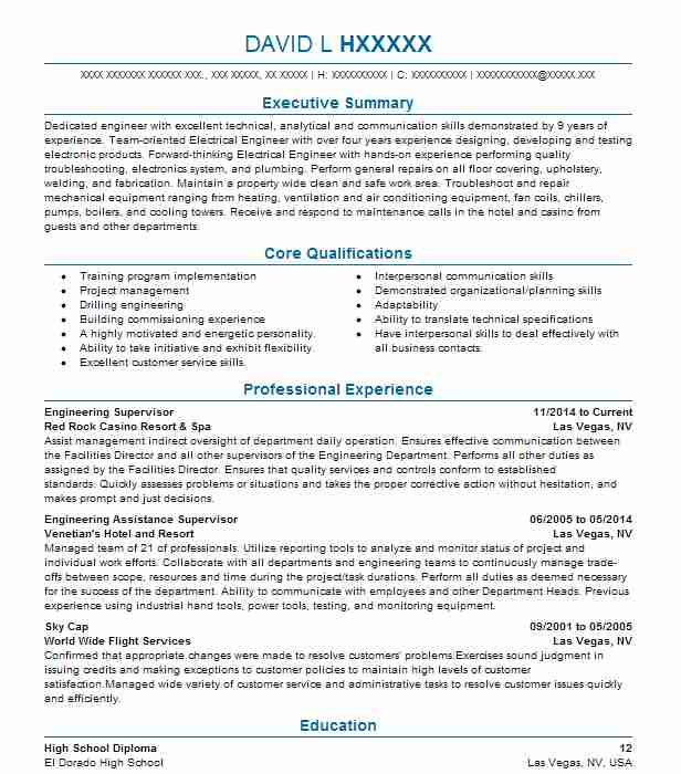 Service And Commissioning Manager Resume Example (Horiba Automotive ...