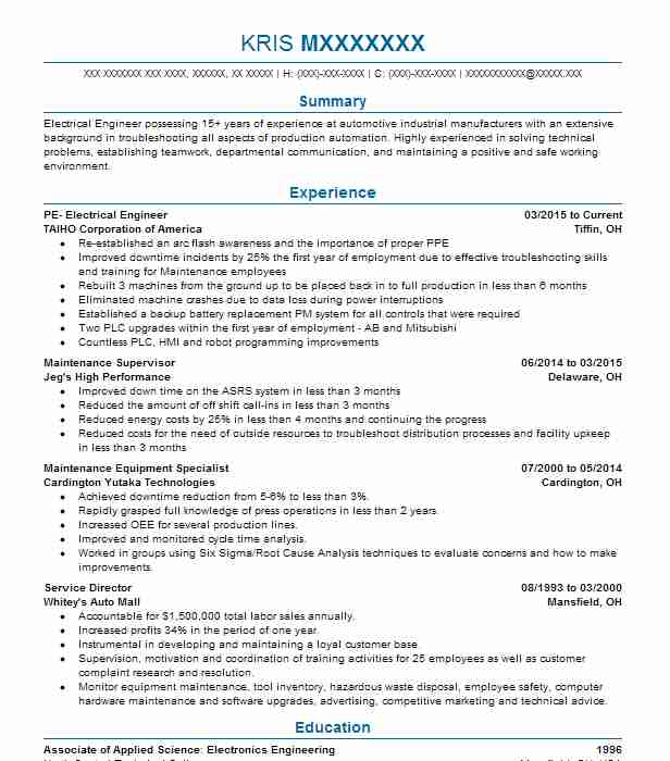 Civil Engineer Resume Sample | No Experience Resumes | LiveCareer