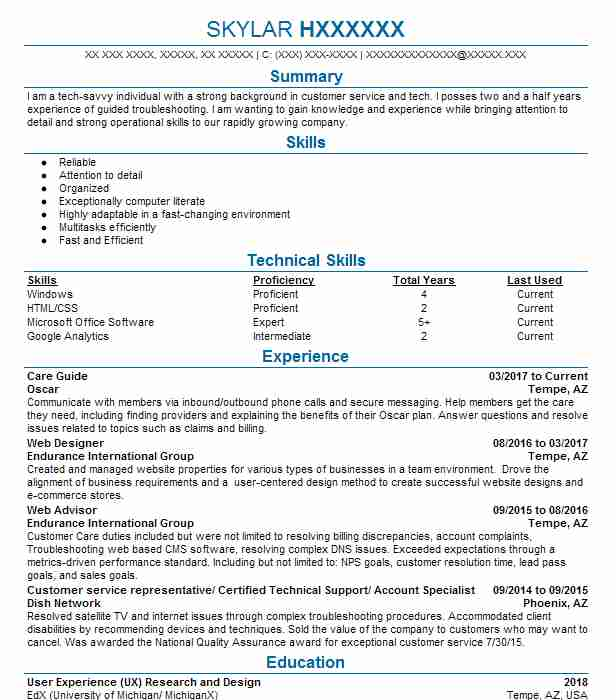 Create My Resume  Tour Guide Resume