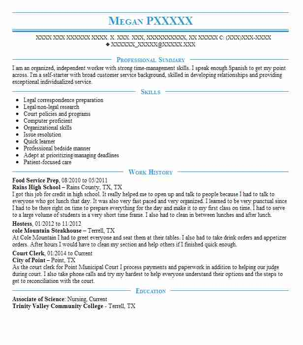 2 resumes matching court reporting resume samples in greenville - Court Reporter Resume Samples
