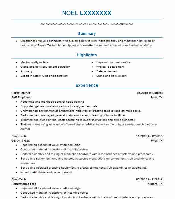 Horse Trainer Resume Sample | Trainer Resumes | LiveCareer