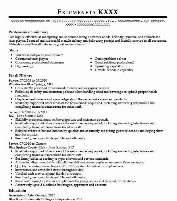26 Call Center Resume Examples Food And Beverage Resumes Livecareer