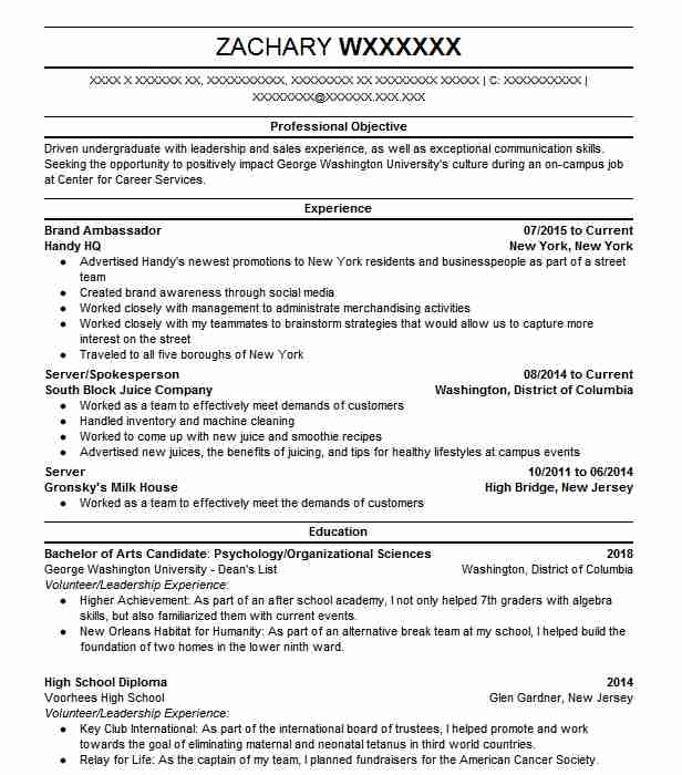 42 Volunteer Management Resume Examples in District Of Columbia ...