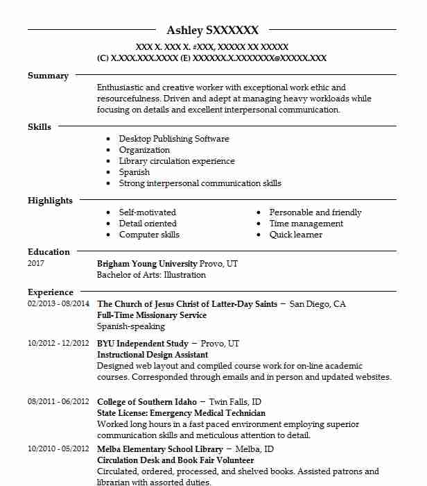 93 Animation And Multimedia Design Resume Examples In Utah Livecareer