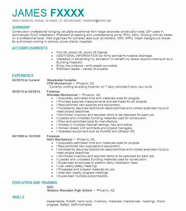 sheetmetal installer - Asbestos Surveyor Cover Letter