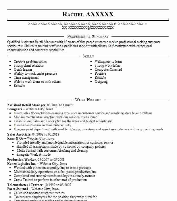 Assistant Retail Manager Bomgaars