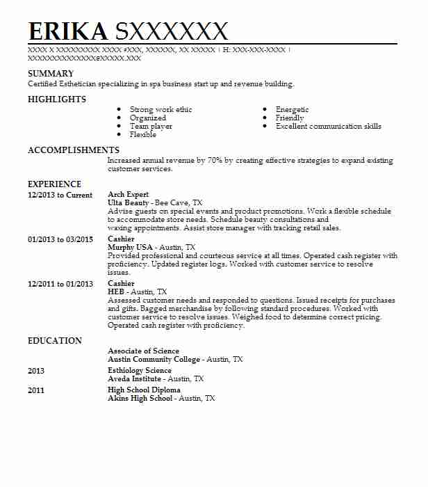 Best Arch Expert Resume Example Livecareer