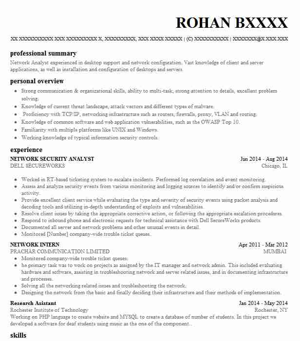 Network Security Analyst Resume Sample | Analyst Resumes | LiveCareer